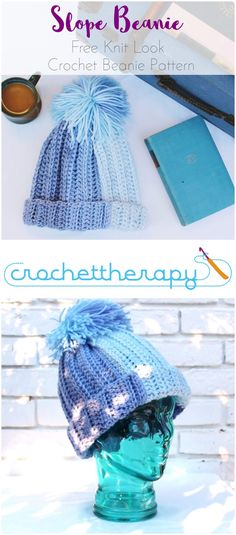 easy free crochet yarn cake beanie pattern