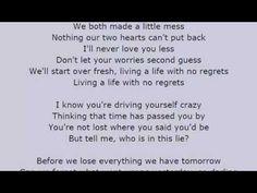 MAGIC! - No Regrets Lyrics