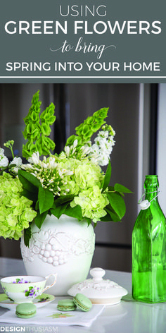 An Arrangement Of Green Flowers Is The Perfect Way To Invite Spring Into Your Home