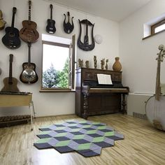 modular carpet, geometric area carpet,diy rug, puzzle carpet, modern, contemporary, 3D carpet, eco design, Carpet Diy, Carpets, Modern Contemporary, 3 D, Puzzle, Houses, Flooring, Rugs, Instagram Posts