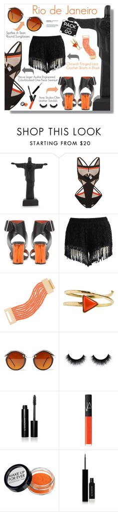 """""""Pack and Go: Rio de Janeiro"""" by meyli-meyli ❤ liked on Polyvore featuring NOVICA, Hervé Léger, Acne Studios, Chicwish, Kenneth Jay Lane, From St Xavier, Spitfire, Bobbi Brown Cosmetics, NARS Cosmetics and Givenchy"""