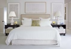 art work above the bed and bedside tables - Traditional Bedroom by Victoria Hagan in Southport, Connecticut