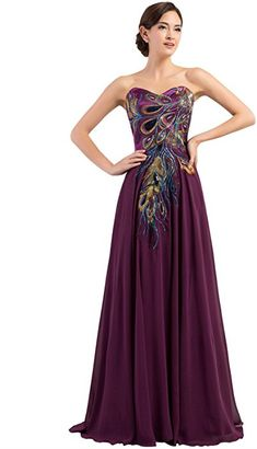 b31ac979ace New Peacock Long Dress Popular Evening Dress for Women Party 2015. See  more. Amazon.com  Full Length Evening Dresses for Women Chiffon Black Size  2 C-