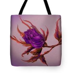 Rose Tote Bag featuring the painting Decorative Wild Rose by Faye Anastasopoulou