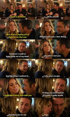"""Severide: """"I'd keep you here forever if I could, I really would. But that'd be for me."""" 3x09"""