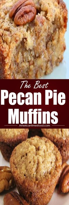 Pie Muffins Pecan Pie Muffins – Page 2 – Delicious recipes to cook with family and friends.Pecan Pie Muffins – Page 2 – Delicious recipes to cook with family and friends. Pecan Desserts, Pecan Recipes, Köstliche Desserts, Baking Recipes, Dessert Recipes, Recipes With Pecans, Loaf Recipes, Quick Bread Recipes, Holiday Desserts