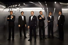 Madame Tussauds London brings together all SIX James Bonds in wax