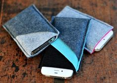 Poppytalk - The beautiful, the decayed and the handmade: DIY Wool Felt Phone Sleeves Felt Phone Cases, Felt Case, Diy Phone Case, Iphone Cases, Tablet Cases, Iphone Holder, Laptop Case, Phone Cover, Iphone Wallet