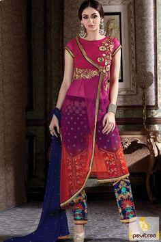 #Pink #Orange Color #Net Bhagalpuri Fancy Salwar Kameez For Women http://www.pavitraa.in/store/partywear-salwar-suit/?utm_source=pk&utm_medium=pinterestpost&utm_campaign=1Jan #salwarsuits, #salwarkameez, #newyeardresses, #designersalwarsuits, #bollywoodsalwarsuits, #anarkalisalwarsuits, #straightsalwarsuits, #embroiderysalwarsuits, #wholesalecatalog, #churidarsuit, #palazzo, #festivaloffer Call/ WhatsApp : +91-7698234040  Email _Id : info@pavitraa.in