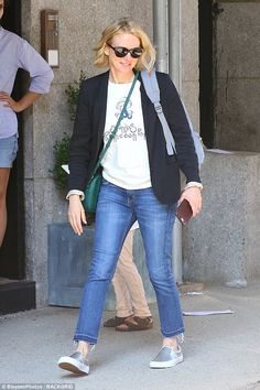 Walk of fame:Naomi Watts, 48, was seen stepping out in New York City on Friday...