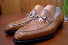 SPIGOLA: Bit loafer crocodile