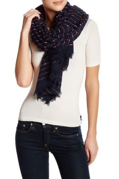 Small Striped Dot Scarf