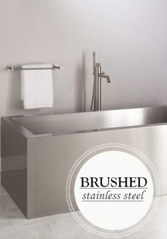 A Brushed Stainless Steel Bathtub is a sleek and modern addition to a master bathroom.