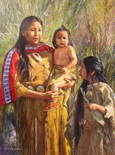 Native American Oil Paintings  | ... , Original Western Art (Oil Paintings), featuring Native Americans