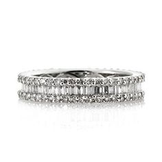 2.00ct Baguette Cut Diamond Eternity Band    OBSESSED with this Mark Broumand 2ct band