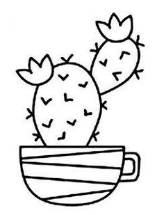 Riscos graciosos (Cute Drawings): Cactos e Suculentas (Cacti and Succulents) Cute Drawings: Cacti and Succulents (Cacti and Succulents) Art Drawings For Kids, Love Drawings, Easy Drawings, Cactus Drawing, Drawing S, Cactus Craft, Cactus Cactus, Broderie Simple, String Art Patterns