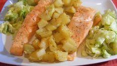 Salmon al vapor. Salmon Recipes, Fish Recipes, Baby Food Recipes, Seafood Recipes, Healthy Recipes, Food N, Food And Drink, Sea Food, Slow Cooker Recipes