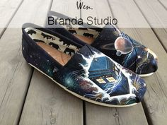 Doctor,Doctor Who Shoes,Galaxy shoes,Wen Studio Hand Painted Shoes-,Buy One Get One Phone Case Free,100%Hand Paint On Converse Shoes 105Usd on Etsy, $69.99