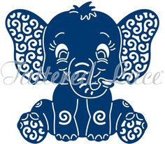 Tattered Lace Die - Baby Elephant
