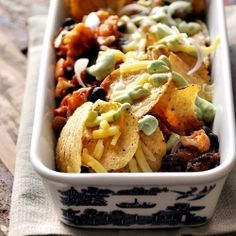 Vegetarian Nachos - a clever way to sneak in cauliflower and capsicum in your meal.