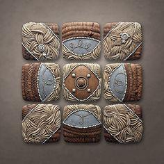 Mountain Pattern: Christopher Gryder: Ceramic Wall Art | Artful Home
