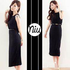 Vestido largo de corte clásico, encuentra esto y mucho más en: www.niuenlinea.co