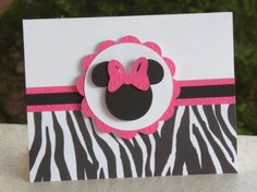 Favorite  Like this item?    Add it to your favorites to revisit it later.  ZEBRA Minnie Mouse Thank You Cards