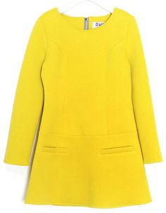 Diva Onepiece Dress (2 Colors) | 2014 Spring & Summer | Dolly & Molly | www.mydollymolly.com | #colorful #daily #pick #lookbook #yellow #daydream #lemon #dress #korea #kpop #koreafashion