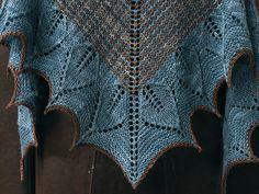 Ulmus Shawl. Ulmus shawl, pattern by Through the loops Yarn: socks that rock - colourway Spinel & Meet Brown, Joe.