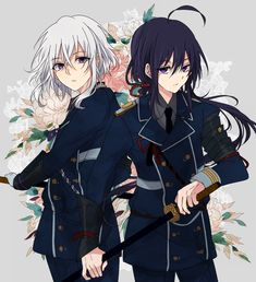 Honebami X Namazuo Anime Chibi, Manga Anime, Manga Boy, Anime Art, Touken Ranbu, Anime Sword, Mutsunokami Yoshiyuki, Anime Fantasy, Cute Anime Guys