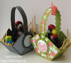 His n hers easter baskets - Stampin' Up!