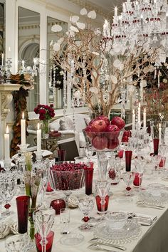 Detail Dining Room Shot By Amy Lau Christmas TablescapesChristmas DecorationsTabletopDining