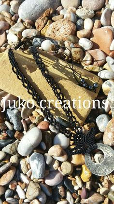 Neck lace macrame by Juko creations  hand made metalic by Arzanto