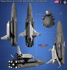 Type2041 heavy lift booster by Kodai-Okuda.deviantart.com on @DeviantArt