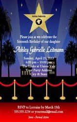 hollywood ticket style birthday invitationdiy printablesimply, party invitations