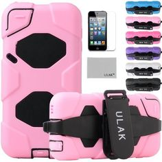 Pandamimi ULAK(TM) Full Protection Extreme Heavy Duty Water-Proof Sport Outdoor Case Cover Belt Clip for Apple iPod Touch 5 5th with Screen Protector (Baby Pink) by ULAK, http://www.amazon.com/dp/B00EZF15NW/ref=cm_sw_r_pi_dp_vSGusb0MH35MT