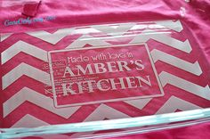 Chevron Personalized 9x13 Pyrex by GoneGirly on Etsy, $35.00