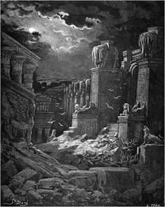 the fall of Babylon. gustave dore
