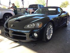 Dodge Viper getting detailed at work #exoticcar #supercar #car #exotic #cars #hypercar #exoticcars #carporn #supercars