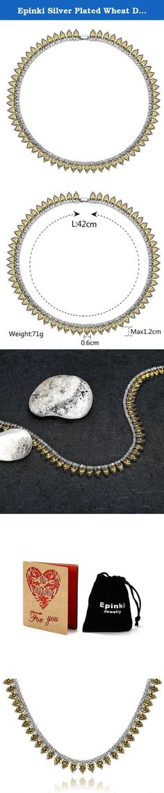 Epinki Silver Plated Wheat Drop Cubic Zirconia Yellow Necklace Wedding Bridal Jewelry. Why choose Epinki Jewelry? About the product: Material: All the products in our store made from high quality material,and wear comfortable; As a gift: You don't have to worry about the present for friends, jewelry is timeless. Product Color: The same as the picture.(Maybe a little chromatic aberration) About our service: We will do our best to solve any problems and provide you with the best customer...