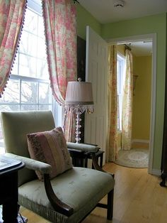 We were looking at getting that very fabric, I love seeing it up in this room - gives me lots of ideas!