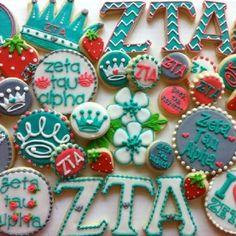 #ZTA Zeta Tau Alpha cookies