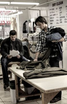 Supernatural: the one and only laundry day for Sam and Dean.