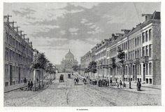 Antique print : Amsterdam De Sarphatistraat street Holland 1879