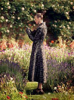 """Belle Fleur"" Caroline Trentini by David Sims for Vogue US September 2014 CELINE"