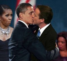 Lovely little smooch for mr Obama - My Fav Meme...........Michelle........AND Oprah.....too much
