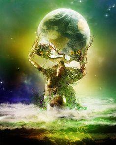 Gaia - (a. Celu, Gaea, Terra, Mother Earth) Greek goddess of the Earth. Sacred Feminine, Divine Feminine, Mutter Erde Tattoo, Fantasy World, Fantasy Art, Dark Fantasy, Pagan Art, Mystique, Gods And Goddesses