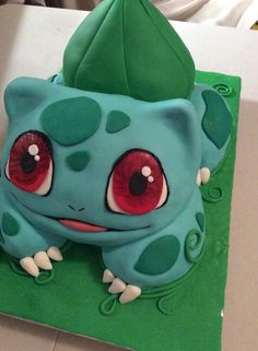 adorable Bulbasaur cake