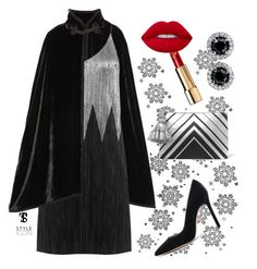 """""""Glam"""" by tatjanasega on Polyvore featuring Gianvito Rossi, Anya Hindmarch, Anna Sui and Lime Crime"""