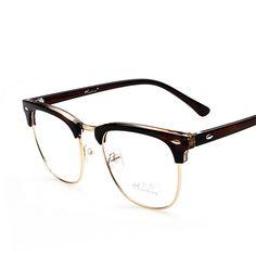 R  15.18  2017 Hot Retro Óculos para homens transparente óculos de Leitura  Óptica Óculos Óculos Armação unissex óculos oculos de grau feminino em  Armações ... ec247a3345